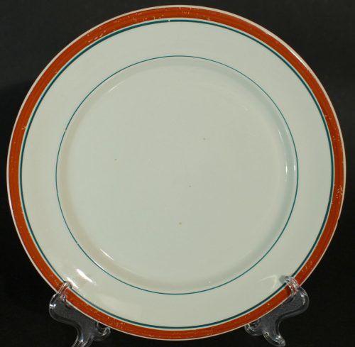 Rörstrand Rött band o två gröna ränder 1908 - 1926 Assiett