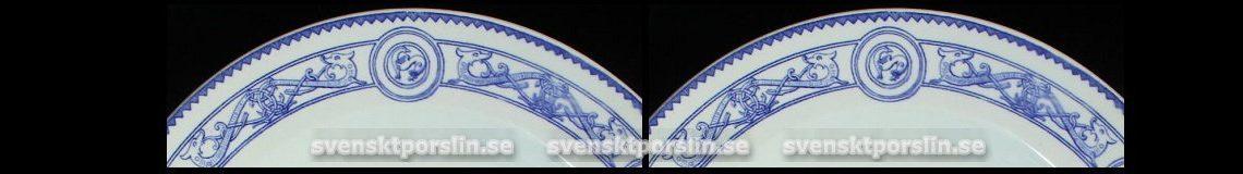 Gustavsberg Fornnordiskt mönster 1870 och 1917 tallrik