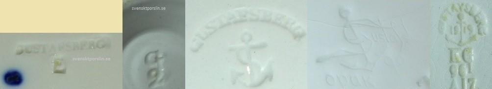Gustafsberg stämplar 1827 - 1940