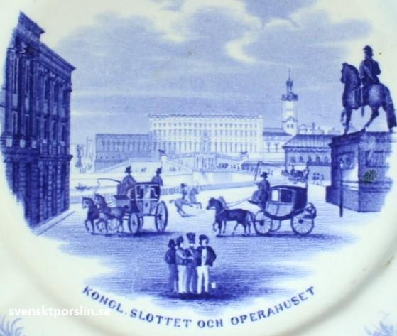 Gustavsberg Djurgårdsservisen Kongl. Slottet och Operahuset