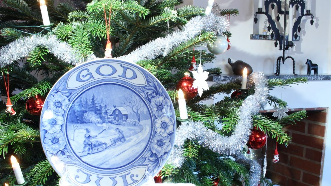 God Jul - gammal Gefle tallrik