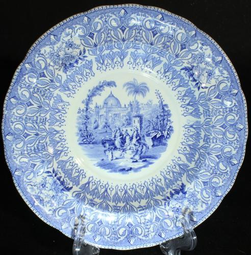 Rörstrand Turkiskt Blått, Grönt, Svart 1842 - 1856 PG