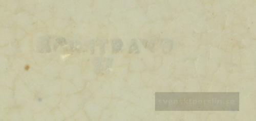 Rörstrand Dacca 1848 - ca 1900 nr15 Stämpel Rakstämpel versaler